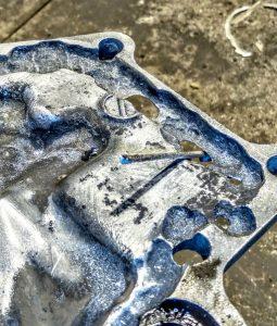 Ремонт алюминиевой крышки теплообменника на подъёмный кран