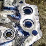 ремонт алюминиевой крышки теплообменника на кран подъёмный кран