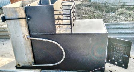 Банная печь «Катюша» с каменкой и баком для воды