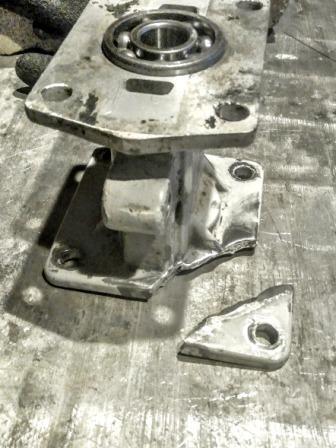 Сварка алюминиевого блока подшипников привода