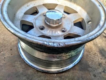 Сварка алюминиевого литого диска на квадроцикле