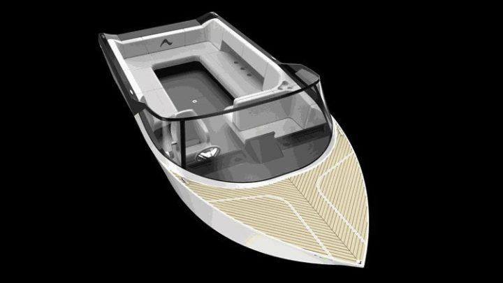 Электрическая алюминиевая лодка Arc One