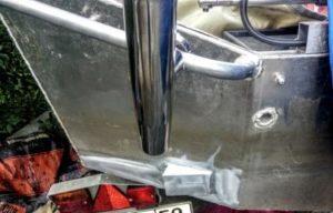 Площадка из алюминия для кронштейна эхолота на моторную лодку